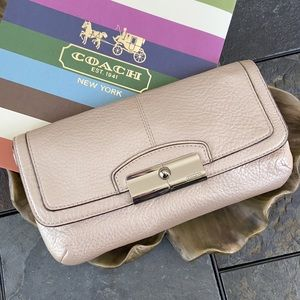 Pearlescent Pale Pink Clutch / Wristlet